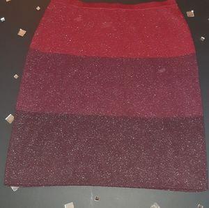 Anne Klein metallic knit skirt